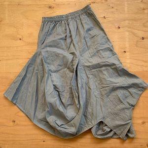 Vintage Slate Grey Logan Look Parachute Skirt